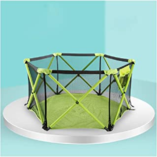 Baby playpen-SYY Stable Structure Toddler Fence Kids  nbsp activity  nbsp centre Foldable And Washable Save Space green-S M L  Size