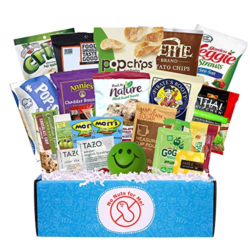 Nut Free College Care Package, Great for Final Exams, a Healthy Gift for the Allergic, Homesick Student! Support, Encourage, and Inspire your University or Boarding School Student