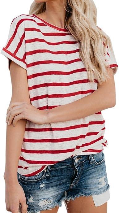 Cinnamou Camisetas de Mujer Manga Corta, Blusas de Mujer ...