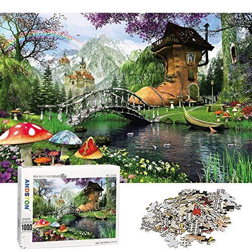 ANDSTON 1000 Stück Puzzles für Erwachsene | Alter Schuh Haus | Lehrpuzzles 1000 Teilige Puzzles Natur für Kinder, Alle Teile Passen Perfekt Zusammen, Spielzeuggeschenk für Die Wanddekoration