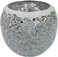 NXYCXXJS Glass Candle Holder Tea Light Holder, Used for Wedding Family Bar Decoration (Color : H)