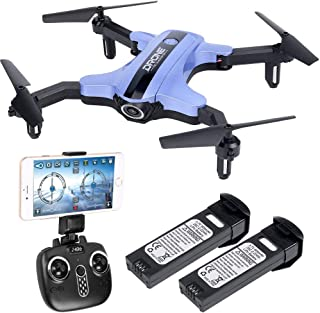 HuiShuTek Foldable Mini Drone RC Nano Quadcopter with 720P HD Camera 2.4Ghz 6-Axis Gyro with Altitude Hold, 3D Flips, Headless Mode,for Beginners