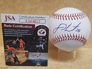 jd martinez autographed baseball