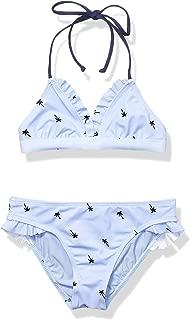 Big Girls' Triangle Top & Ruffle Bikini Bottom Swimsuit Set
