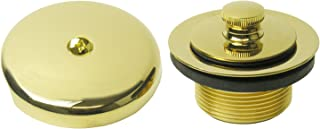 Simpatico 34899P Lift And Turn Tub Strainer Kit, Single Hole Overflow Plate And Screw, 1 1/4