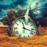 Lienzo De Impresión 40x60cm Sin Marco Reloj de fantasía surrealista eimágenes deniñaDecoración de sala de estar