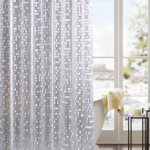 La salle de bains coupent le rideau en douche imperméable PVC semi-transparent rideaux semi-transparents ( taille : 240*180cm )