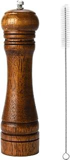 Binhai Molinos de Pimienta, Molinillo de Pimienta, Molinillo de Sal y Pimienta, de Madera Maciza con Molinillo de cerámica Ajustable Fuerte 8 Pulgadas (1 Pedazo)