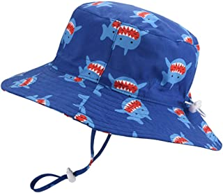 9dd959c0 Baby Sun Hat Adjustable - Outdoor Toddler Swim Beach Pool Hat Kids UPF 50+  Wide