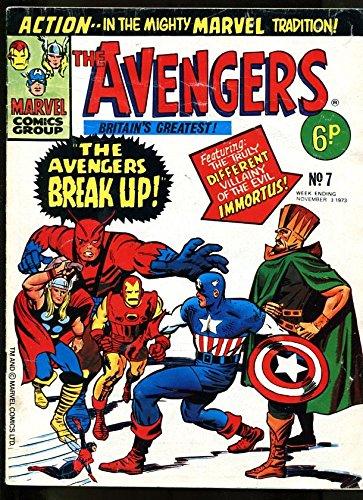 AVENGERS #7 1973-THOR-GIANT-MAN-IRON MAN-KIRBY-UK COMIC VG