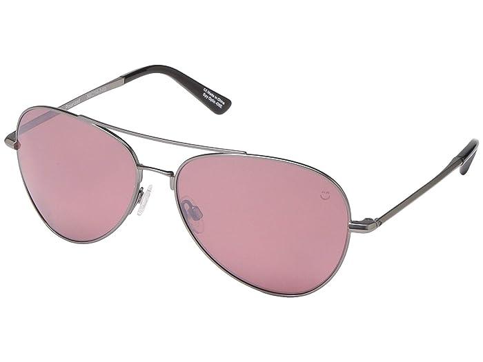 Spy Optic Whistler (Matte Gunmetal/Happy Rose Polar/Light Silver Spectra Mirror) Metal Frame Sport Sunglasses