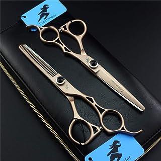 Professional Hair Snijden Schaar 6,0 Inch Japan Stainless Steel Sharp Set, Hoge Kwaliteit Golden Kapper Tools for Salon En...
