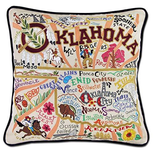 Catstudio Oklahoma Embroidered Decorative Throw Pillow