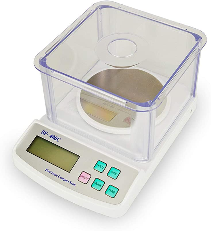 500g 0 01g Precision Jewelry Balance Scale LCD Digital Electronic Analytic Balance Scientific Lab Instrument Laboratory Scale White Gray