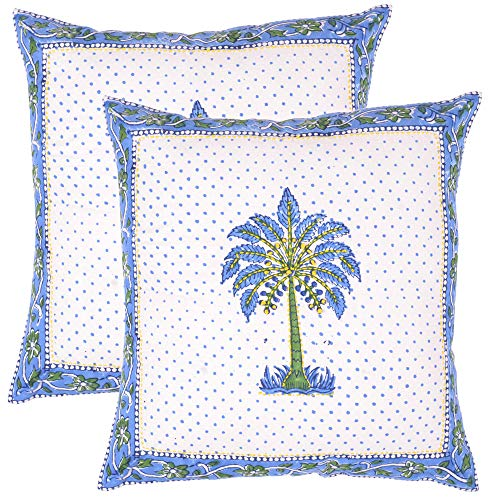 KAANUS Creations Handmade Ocean Tree Embroidery Design Cushions CoverPillow Cover Pair Set