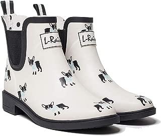 L-Rain LR Women's Short Rain Boots Waterproof and Anti-Slipping Rain Shoes Chelsea Booties