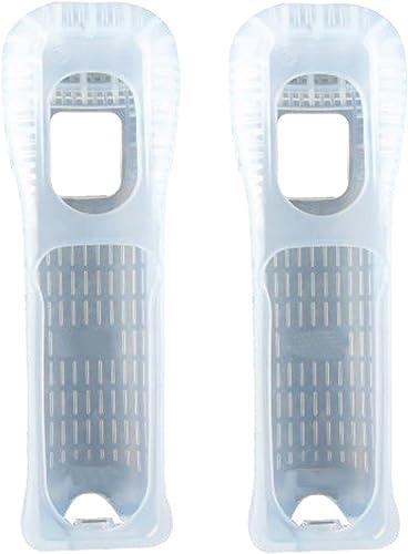 Nintendo Wii Remote Wiimote Clear White Jacket Skin (2 Pack)