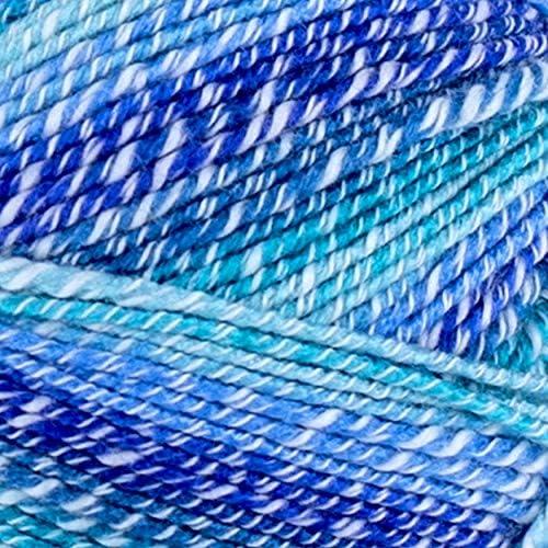 Lion Brand fils Imagine écharpe laine Lot de 3 échevettes couleur bleu Bayou