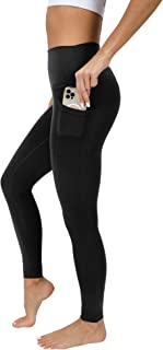 90 Degree By Reflex High Waist Cotton Elastic Free Cloudlux Ankle Leggings with Side Pocket