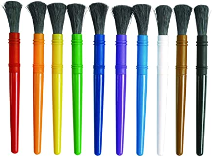 Colorations Easy-Grip Paint Brushes Set of 10 Item # EGBRUSH