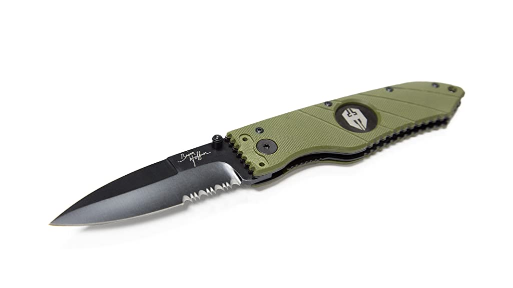 Hoffner Tactical Liner Lock Folding Knife - 3.5 Inch Blade, G10 Grip and Reversible Pocket Clip. Fast One Hand Opening