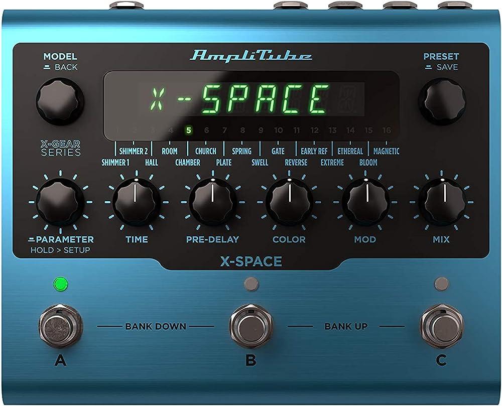 AmpliTube X-SPACE:フロントパネル
