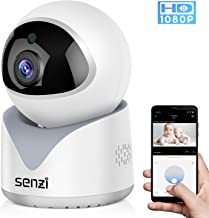 Senzi IP Camera Baby Monitor 1080P Pet Smart Auto Tracking Baby Sound Detection Night Vision Cloud Service 2.4GHz