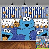 Cookie Monster Backdrop for Kids Birthday Party Decoration Photo Background...