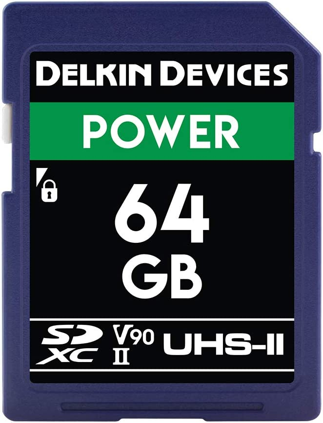 Delkin Devices 64GB Power SDXC UHS-II (V90) Memory Card (DDSDG200064G)
