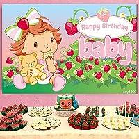 写真の背景誕生日小さな女の子イチゴの背景写真の背景子供の写真の背景子供の誕生日写真ブースの小道具ウェディングフェスティバルテーマパーティー新生児の赤ちゃんの写真