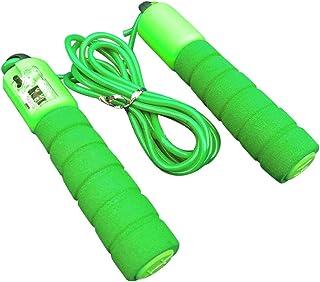 調節可能なプロフェッショナルカウント縄跳び自動カウントジャンプロープフィットネス運動高速カウントジャンプロープ - グリーン