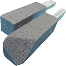 BATTLEHYMN Toilet Bowl Pumice Cleaning Stone with Handle - Fine Grit,Sturdy, High Density, 2 Piece
