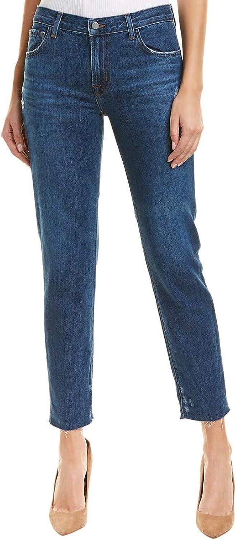J Brand Womens Johnny MidRise Distressed Boyfriend Jeans