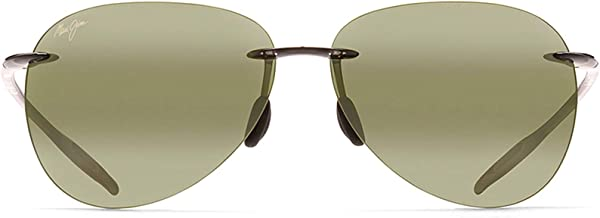 Maui Jim Sunglasses | Sugar Beach H421 | Rimless Frame, Polarized Lenses, with Patented PolarizedPlus2 Lens Technology