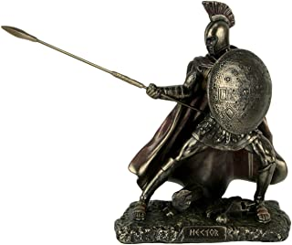Veronese Design Hector Trojan Prince Warrior of Troy Holding Spear and Shield Statue