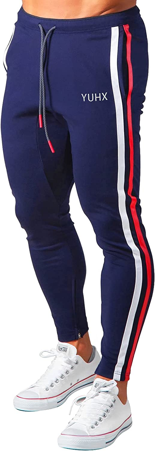 CANGHPGIN Joggers for Men Slim Fit Athletic Track Pants Tapered Workout Pants with Pockets