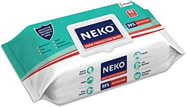 NEKO Germ Protection Wipes 80s Lid Pack | disinfectant wipes | skin friendly | 99% protection | use on skin & multiple sur...