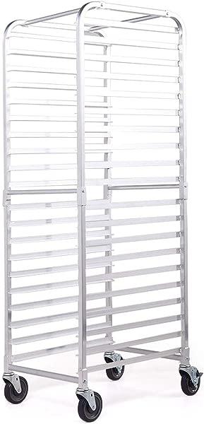 Sandinrayli Bakery Rack 20 Tier Commercial Kitchen Bun Pan Sheet Aluminum Pan Rack