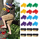 Ackitry 12 Ninja Tree Climbing Holds with 6 Ratchet Straps and Instruction, for...