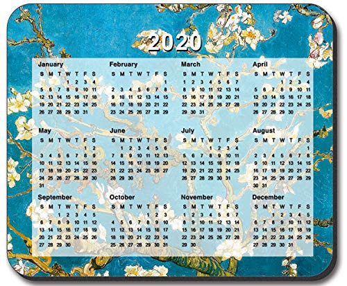 Art Plates Brand - Van Gogh - Almond Blossoms Mouse Pad - with 2020 Calendar