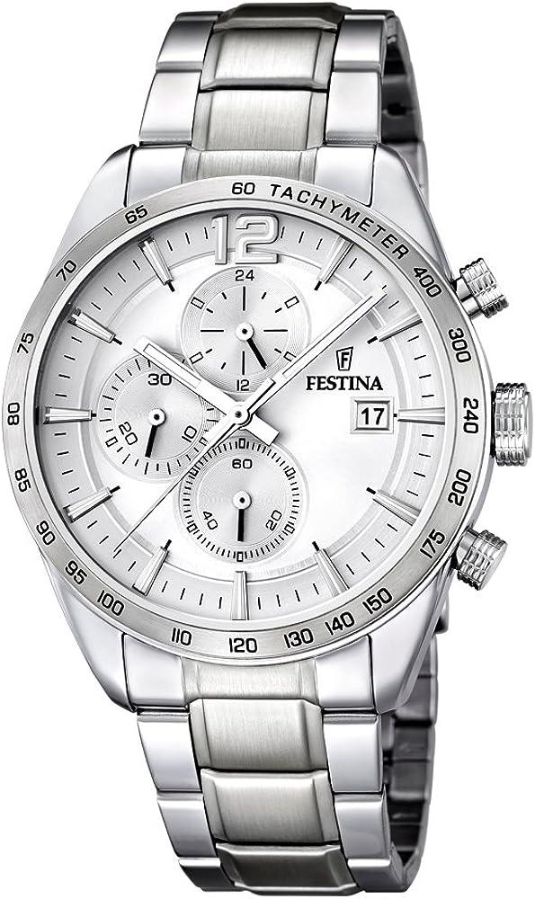 Festina orologio cronografo da uomo  in acciaio inossidabile collezione timeless F16759/1