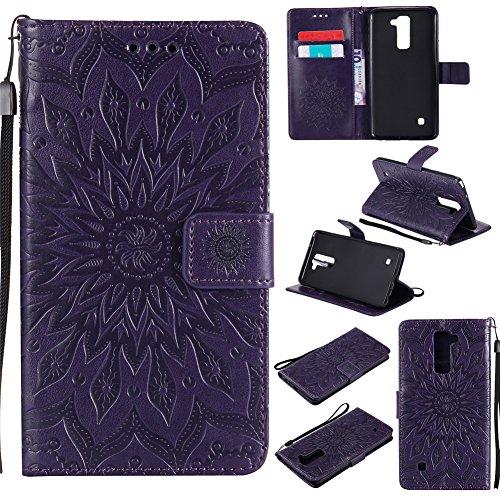Nancen Compatible with Handyhülle LG LS775 Hülle,LG G Stylo 2 / LG Stylus 2 / LG Stylus 2 Plus LS775 K520 (5,7 Zoll) Leder Wallet Tasche Brieftasche Schutzhülle,