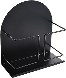 マグネットキッチン収納ラック スパイスラック 調味料ラック TOPOOMY 冷蔵庫ラック マグネットバスルームクリーニングツールホルダー ブラック 約20X9X21cm タワー 浴室ラック お風呂キッチン掃除収納棚 (ブラック, 20x9x21cm)