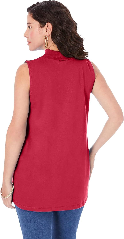 Roamans Women's Plus Size Ultimate Sleeveless Mock Tank Top