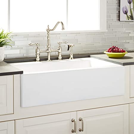 American Standard 77sb30220a 308 Delancey 30 X 22 Single Bowl Apron Front Cast Iron Kitchen Sink 30 X 22 Inch Brilliant White