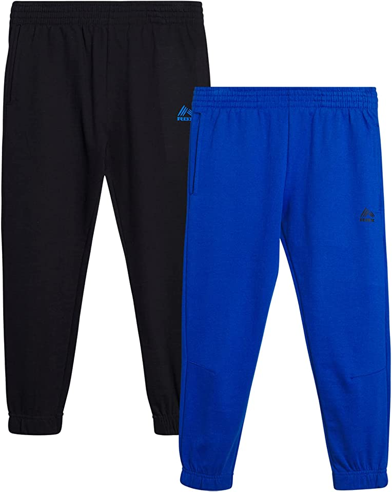 RBX Boys' Sweatpants – 2 Pack French Terry Active Jogger Pants (Little Boy/Big Boy)