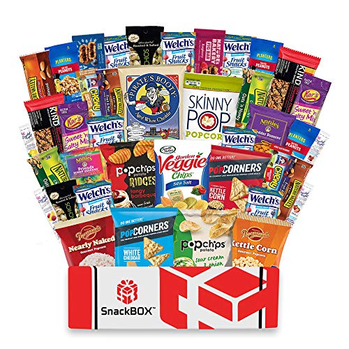 Healthy Snacks Care Package Snack Box (40 Count) for College Students, Exams, Finals, Valentines Day, Gift Basket, Ideas, Get well, Military, Deployment, with Chips, Cookies, Granola Bars and Nuts