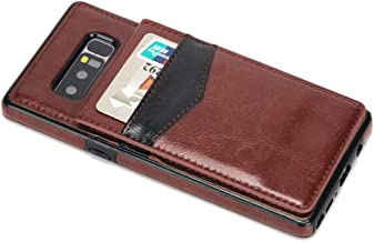 Galaxy Note 8 Case,Tsongja Premium Pu Leather Wallet Cases for Samsung Galaxy Note 8 ID Credit Debit Card Slot Holders Design Stand Feature Back Flip Cover Protective Shell (Brown)