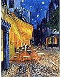 SXXRZA Cuadros de Pared 60x80cm Sin Marco Wee Blue Coo Vincent Van Gogh Cafe Terrace Place Du Forum ...