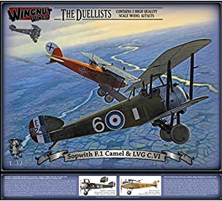 Wingnut Wings Wingnut Wings32803 1/32 Scale Sopwith F.1 Camel and LVG C.VI Model Kitsets, Multi Color